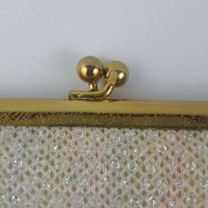 Vintage Bags - Vintage Corde Bead Pastel Evening Purse Handbag